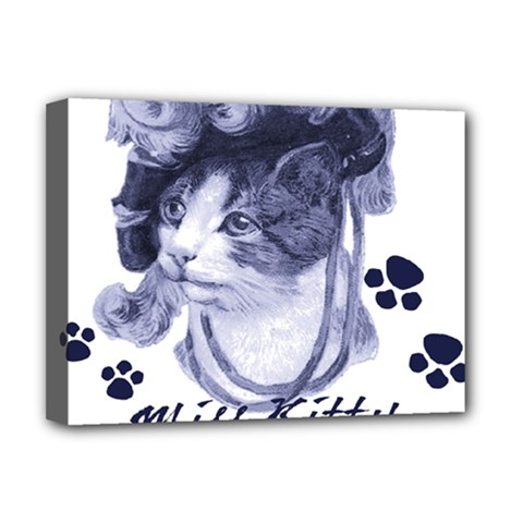 Miss Kitty blues Deluxe Canvas 16  x 12  (Framed)