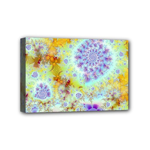 Golden Violet Sea Shells, Abstract Ocean Mini Canvas 6  x 4  (Framed)