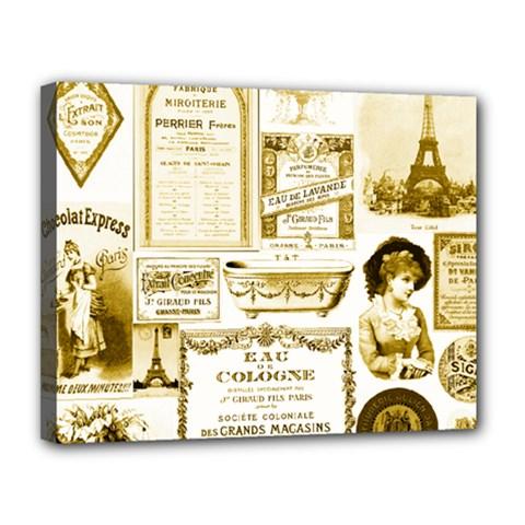 Parisgoldentower Canvas 14  X 11  (framed)