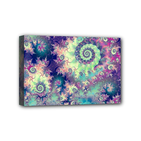 Violet Teal Sea Shells, Abstract Underwater Forest Mini Canvas 6  x 4  (Stretched)
