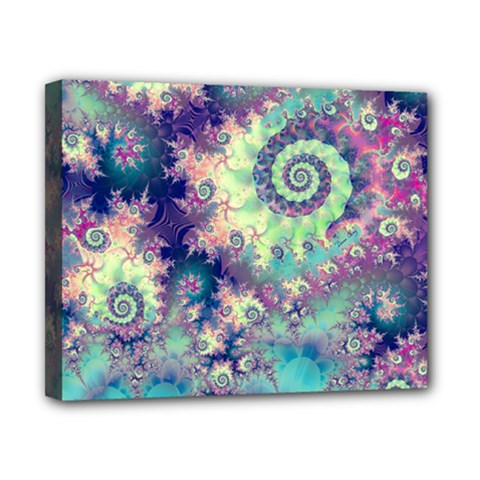 Violet Teal Sea Shells, Abstract Underwater Forest Canvas 10  x 8  (Stretched)