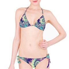 Violet Teal Sea Shells, Abstract Underwater Forest Bikini