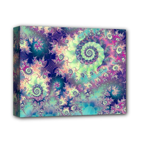 Violet Teal Sea Shells, Abstract Underwater Forest Deluxe Canvas 14  x 11  (Stretched)