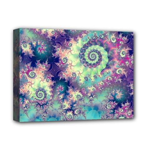 Violet Teal Sea Shells, Abstract Underwater Forest Deluxe Canvas 16  X 12  (stretched)