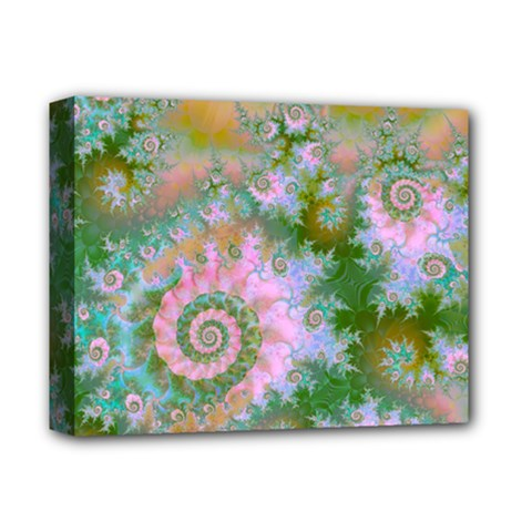 Rose Forest Green, Abstract Swirl Dance Deluxe Canvas 14  x 11  (Framed)