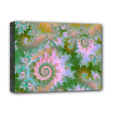 Rose Forest Green, Abstract Swirl Dance Deluxe Canvas 16  x 12  (Framed)