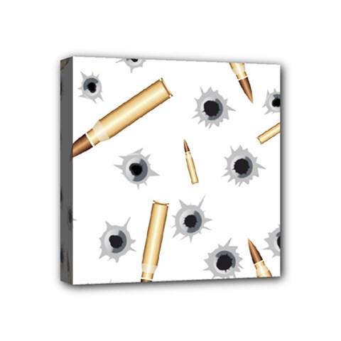 Bulletsnbulletholes Mini Canvas 4  x 4  (Framed)