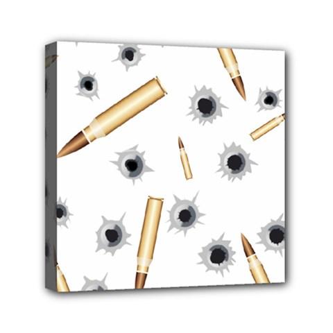 Bulletsnbulletholes Mini Canvas 6  X 6  (framed)