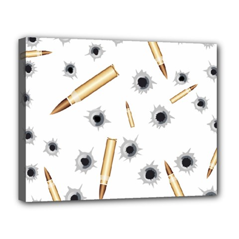 Bulletsnbulletholes Canvas 14  X 11  (framed)