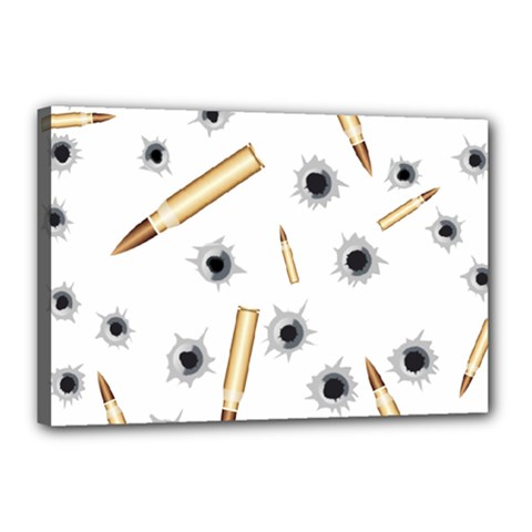 Bulletsnbulletholes Canvas 18  x 12  (Framed)