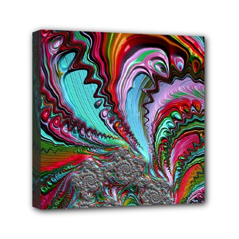 Special Fractal 02 Red Mini Canvas 6  X 6  (framed)