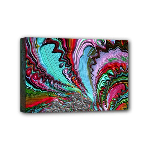 Special Fractal 02 Red Mini Canvas 6  X 4  (framed)