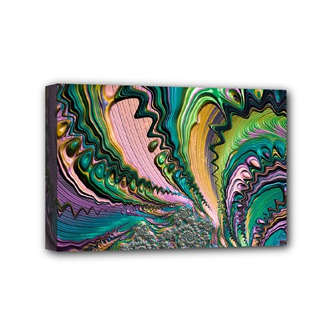Special Fractal 02 Purple Mini Canvas 6  x 4  (Framed)
