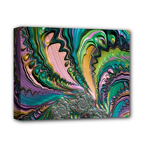 Special Fractal 02 Purple Deluxe Canvas 14  X 11  (framed)