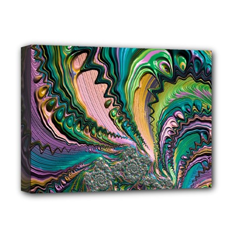 Special Fractal 02 Purple Deluxe Canvas 16  X 12  (framed)