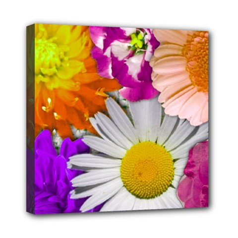 Lovely Flowers,purple Mini Canvas 8  X 8  (framed)