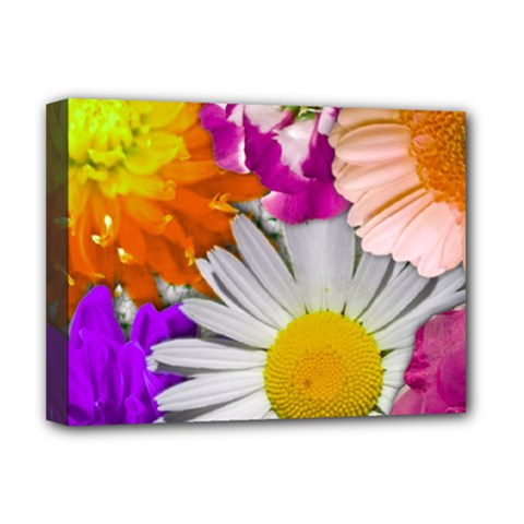 Lovely Flowers,purple Deluxe Canvas 16  X 12  (framed)