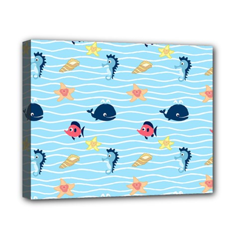 Fun Fish Of The Ocean Canvas 10  X 8  (framed)