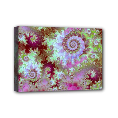 Raspberry Lime Delight, Abstract Ferris Wheel Mini Canvas 7  x 5  (Stretched)