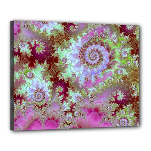 Raspberry Lime Delight, Abstract Ferris Wheel Canvas 20  x 16  (Stretched)