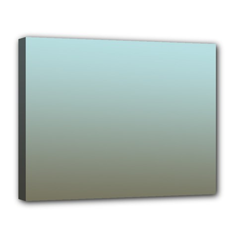 Blue Gold Gradient Canvas 14  X 11  (framed)