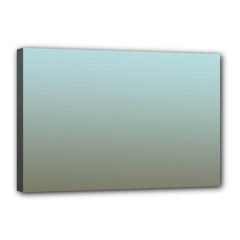 Blue Gold Gradient Canvas 18  X 12  (framed)