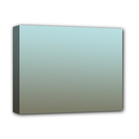 Blue Gold Gradient Deluxe Canvas 14  X 11  (framed)