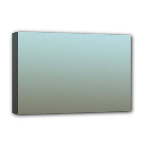 Blue Gold Gradient Deluxe Canvas 18  x 12  (Framed)