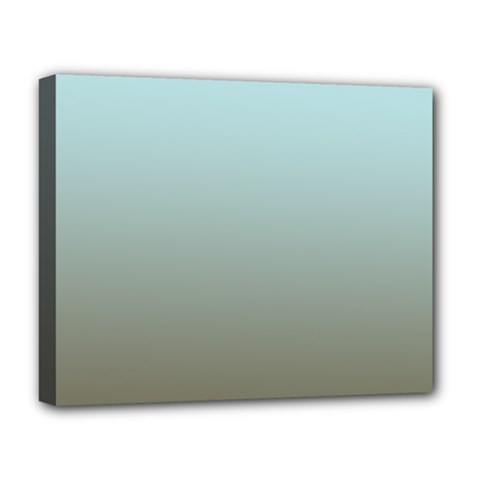Blue Gold Gradient Deluxe Canvas 20  X 16  (framed)