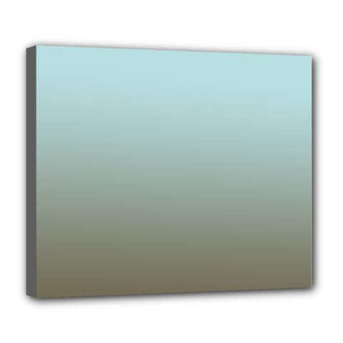 Blue Gold Gradient Deluxe Canvas 24  x 20  (Framed)