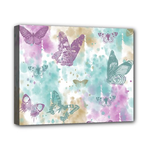 Joy Butterflies Canvas 10  x 8  (Framed)
