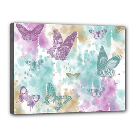 Joy Butterflies Canvas 16  x 12  (Framed)
