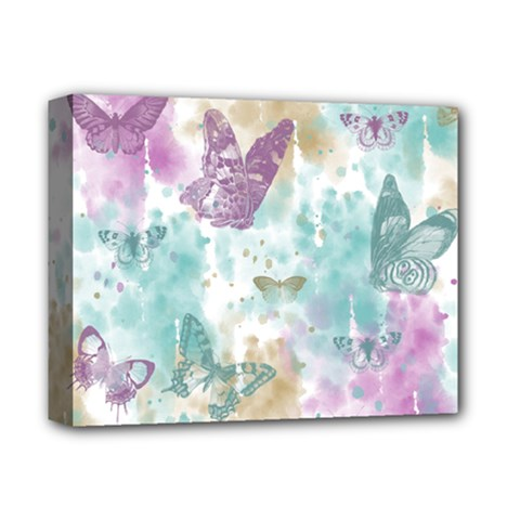 Joy Butterflies Deluxe Canvas 14  x 11  (Framed)