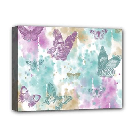 Joy Butterflies Deluxe Canvas 16  X 12  (framed)