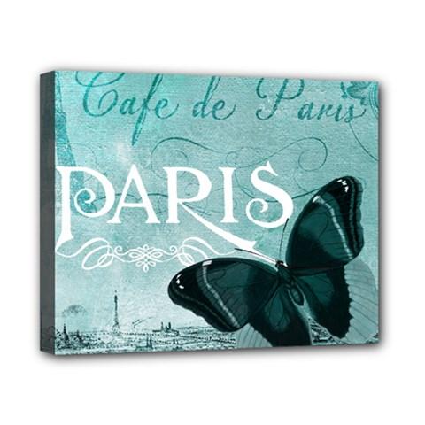Paris Butterfly Canvas 10  x 8  (Framed)