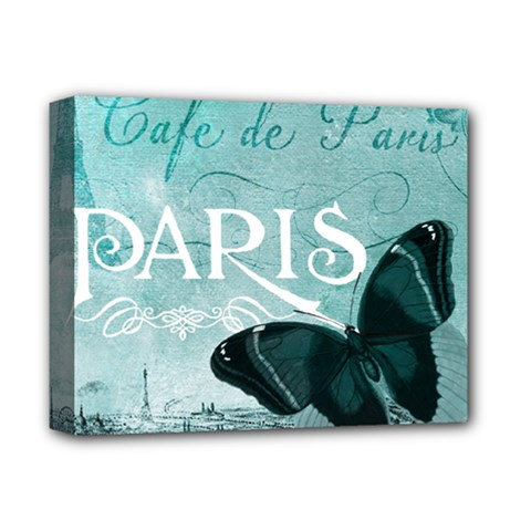 Paris Butterfly Deluxe Canvas 14  x 11  (Framed)