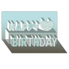 Butterflies Happy Birthday 3d Greeting Card (8x4)