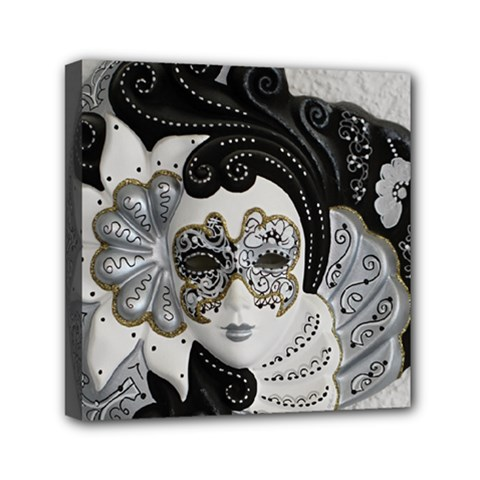 Venetian Mask Mini Canvas 6  X 6  (framed)