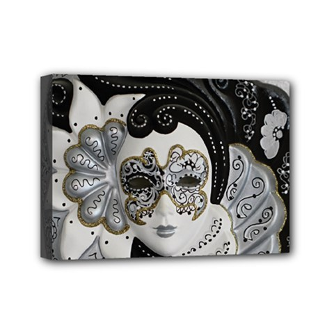 Venetian Mask Mini Canvas 7  x 5  (Framed)