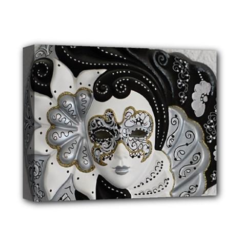 Venetian Mask Deluxe Canvas 14  X 11  (framed)