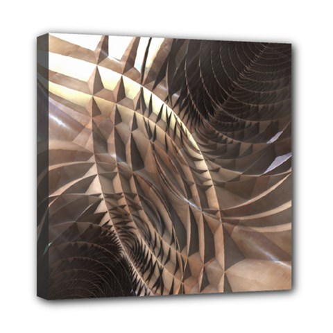 Abstract Copper Metallic Texture Mini Canvas 8  x 8  (Stretched)