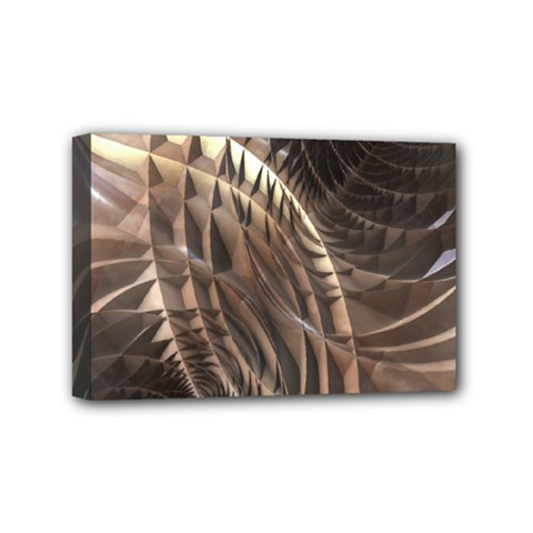 Abstract Copper Metallic Texture Mini Canvas 6  x 4  (Stretched)