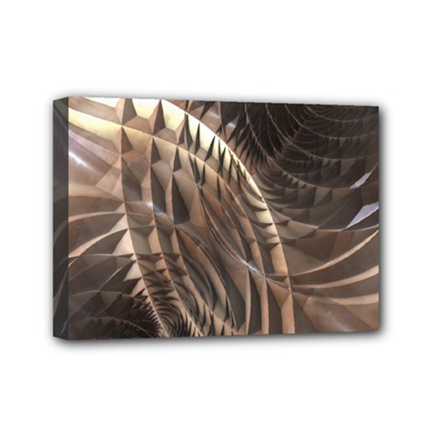 Abstract Copper Metallic Texture Mini Canvas 7  x 5  (Stretched)