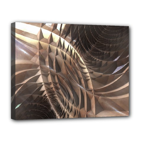 Abstract Copper Metallic Texture Canvas 14  x 11  (Stretched)