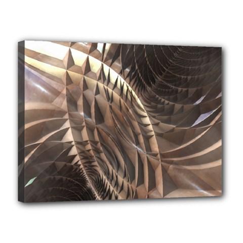 Copper Metallic Canvas 16  x 12  (Stretched)