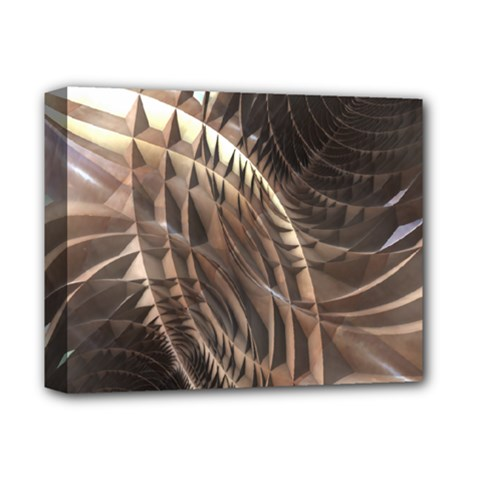 Abstract Copper Metallic Texture Deluxe Canvas 14  x 11  (Stretched)