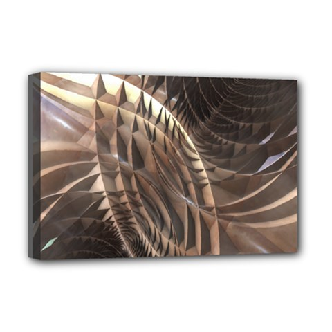 Abstract Copper Metallic Texture Deluxe Canvas 18  x 12  (Stretched)