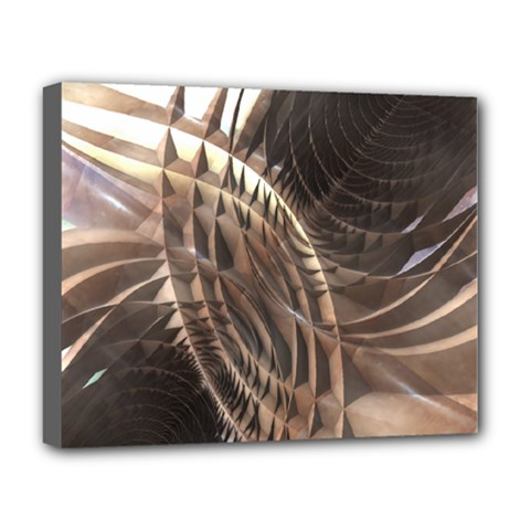 Abstract Copper Metallic Texture Deluxe Canvas 20  x 16  (Stretched)
