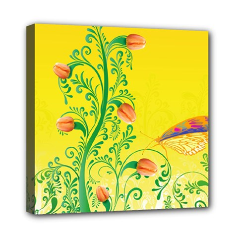 Whimsical Tulips Mini Canvas 8  X 8  (framed)