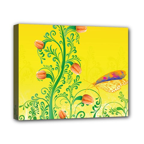 Whimsical Tulips Canvas 10  x 8  (Framed)